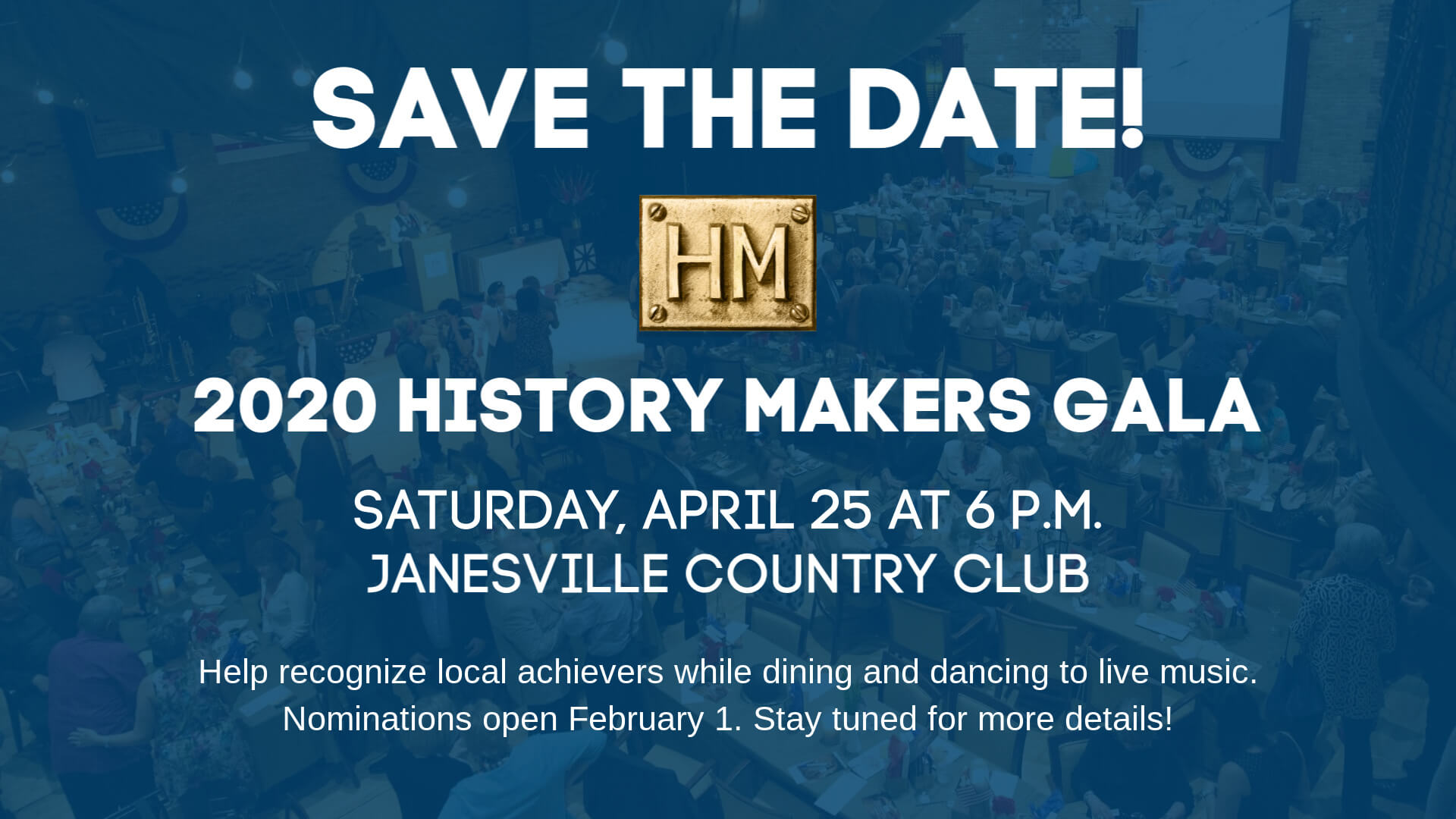 2020 History Makers Gala Save the Date