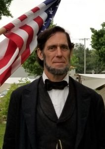 Actor Randy Duncan as Abraham Lincoln