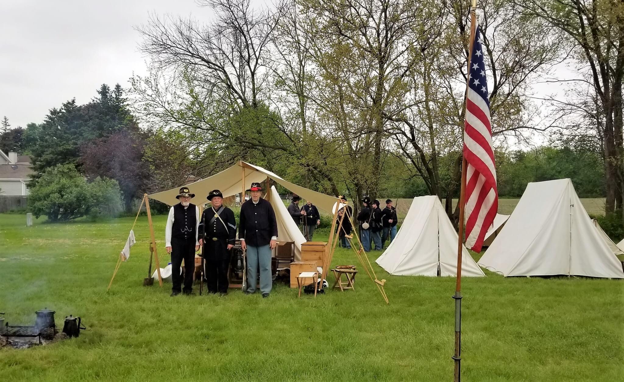 Civil War Military Camp Reenactment