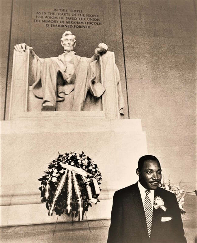 Dr. Martin Luther King Jr. at the Lincoln Memorial