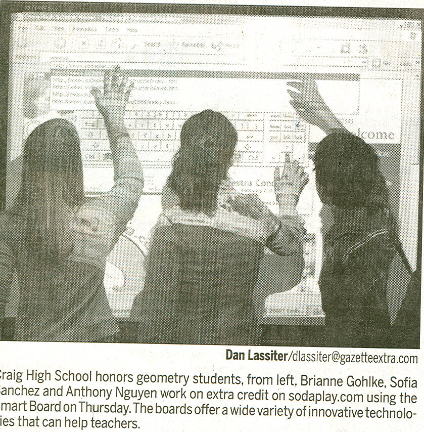 First Smart Board in the School District of Janesville in 2005