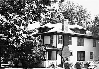 Home of Frank's Aunt Clara of Douglas Hardware. Frank's family lived a few houses up on Terrace St.