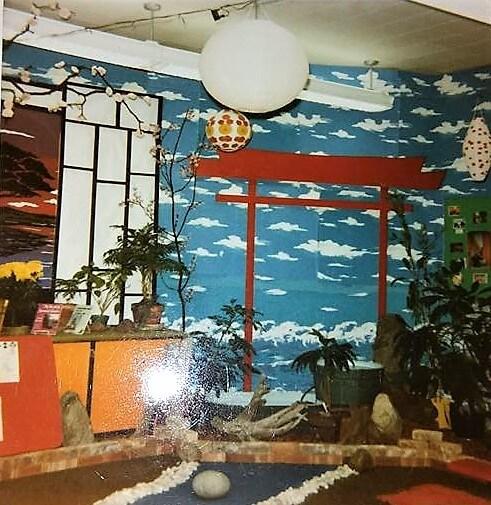 Mr. Douglas' classroom as a Japanese village, photo by Lisa Flint Christianson