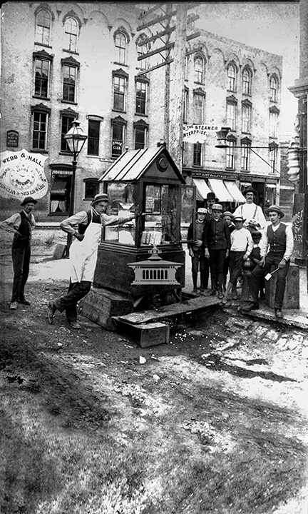 Dillon Brothers popcorn stand
