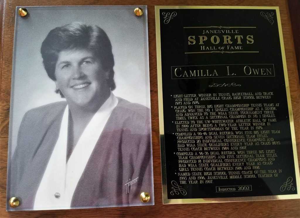 Camilla Owen - Janesville Hall of Fame
