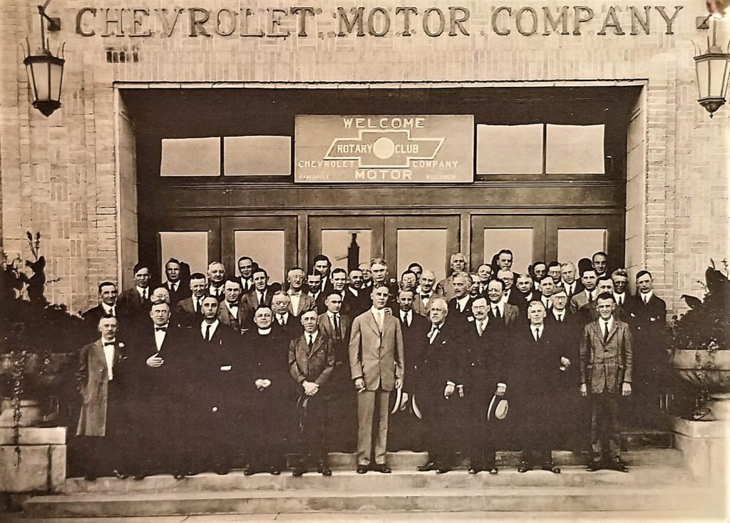 Janesville Noon Rotary Club in 1923 at the new GM Plant