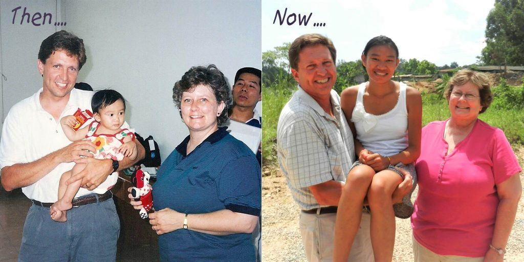 Laura Squire before and after in China