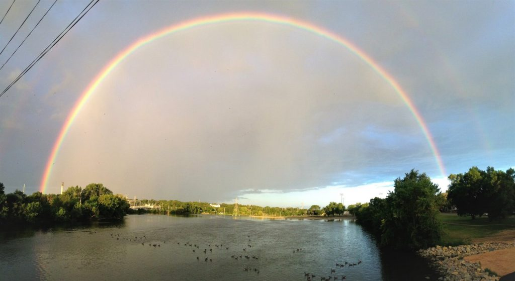 Rainbow from the Jackson St Bridge