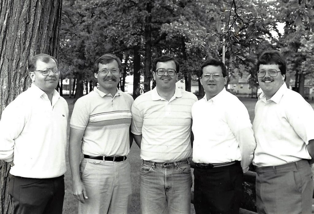 The Murphy brothers, left to right, Bill, Jim, Kevin, Paul and Tom