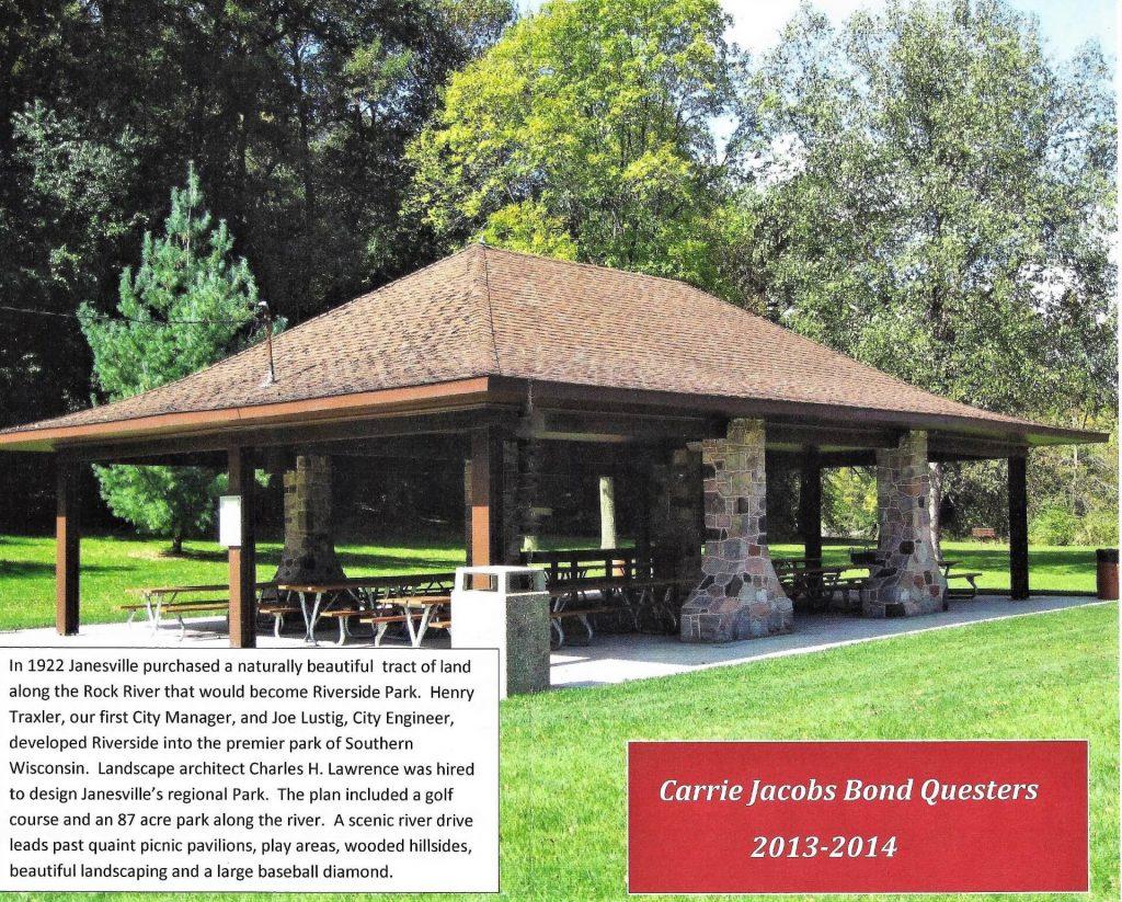Riverside Park pavilion, a Questers project