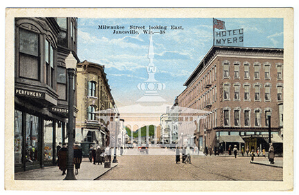 Milwaukee Street looking east, Janesville, Wis.