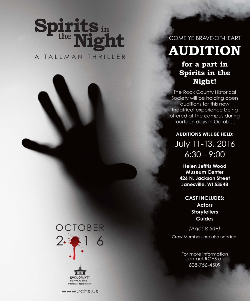 Spirits in the Night audition poster