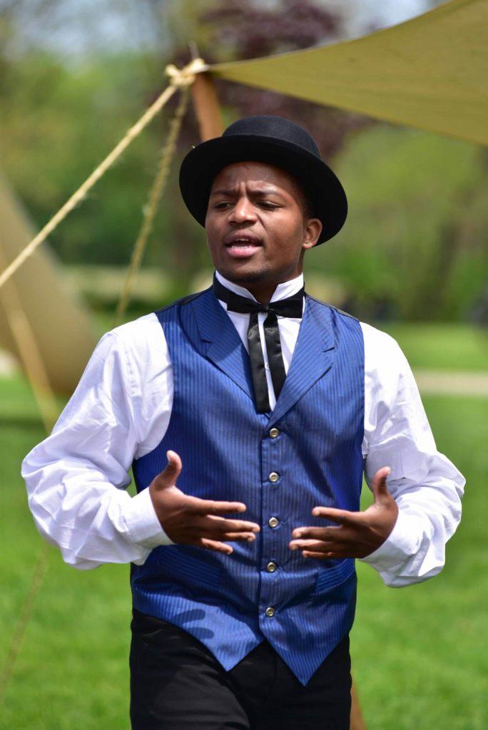 Reginald Kellum as Runaway Slave Andrew Pratt - Photo by Lee Ann Hare
