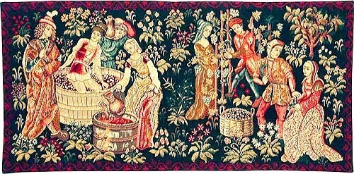 The Grapes Harvest and Winemaking Tapestry