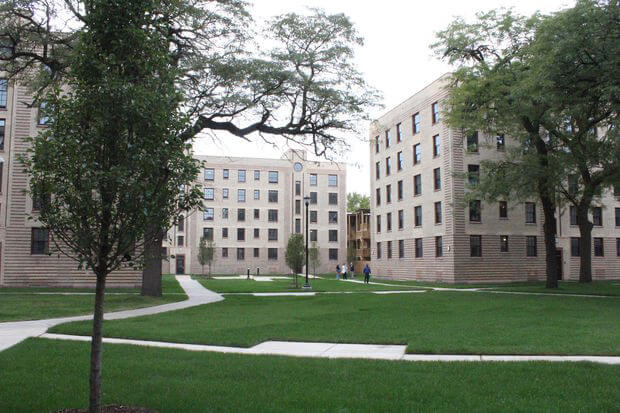 The Restored Historic Rosenwald Apartments in Bronzeville, IL. Photo credit DNAinfoSam Cholke.