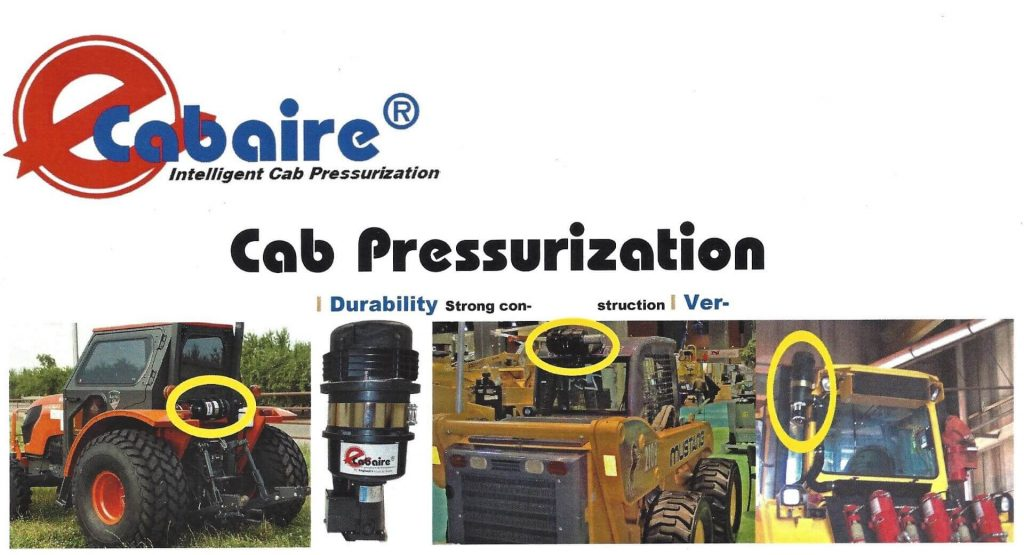 Cab Pressurization equipment