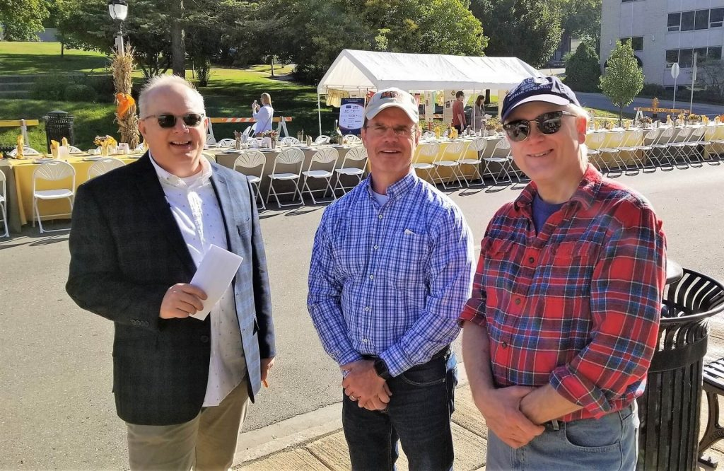 Tim with RCHS Board President Mitch Benson and Board Treasurer Duwayne Severson at the 2018 RCHS Sunday Brunch