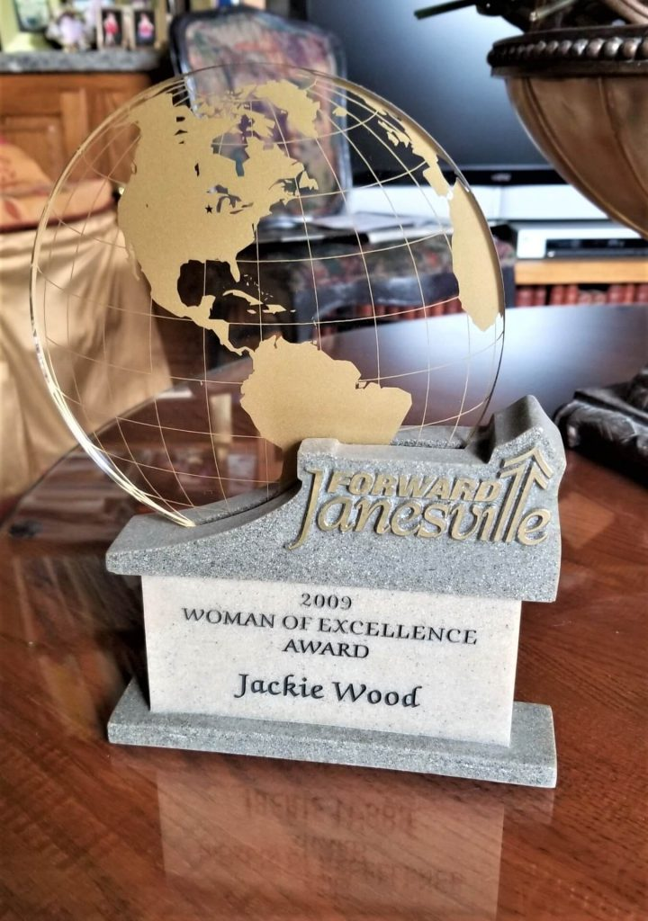 Jackie Wood's Woman of Excellence Award