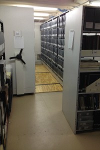 Charles Tallman Archives storage room