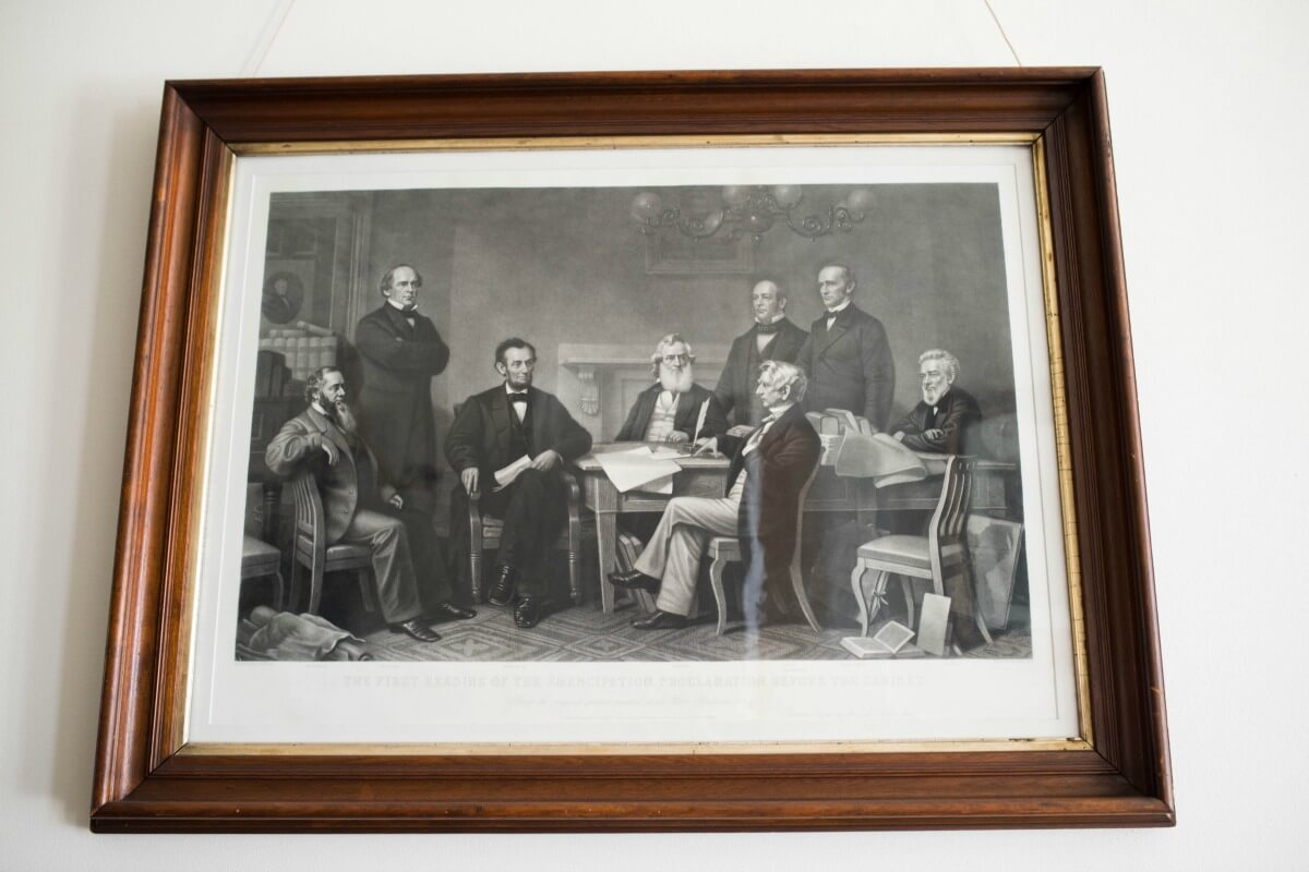 Etching - Lincoln & His Cabinet